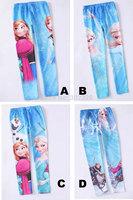 6 Designs Frozen Legging Girls Pants Topolino Fantasia Elsa Anna Trousers fantasias childrenGirls leggings 3-10years 6pcs/lot