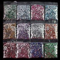 New 2014 free shipping 24000pcs Nail Art Color Acrylic Ellips Rhinestones 3D nail art Gems Tips nail art decorations DIY C313