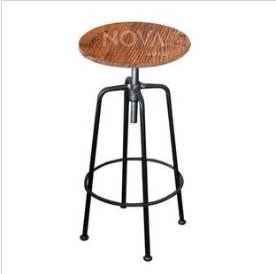 americano país para fazer retro estilo antigo cofragem de madeira antiga de ferro forjado em espiral elevador cadeira do tamborete de barra cadeiras de bar(China (Mainland))