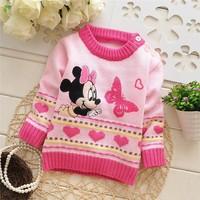 2014 New Unisex winter autumn infant baby Cartoon sweater  girl child sweater baby sweater children outerwear sweater