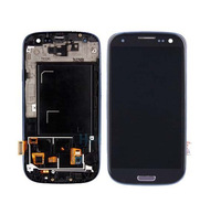 Free shipping For Samsung Galaxy S3 i9300 LCD Display Digitizer Touch Screen Glass+Frame Assembly