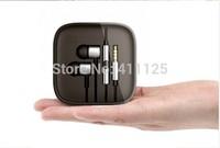 XiaoMi 3 Earphone Metal with MIC and Remote Control Universal all 3.5mm jack earphone Metal Sport earphone 50pcs