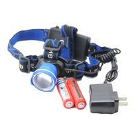 Retractable outdoor headlight 2000 Lumens 10 Watt Retractable T6 CREE LED Sports Outdoor Headlight Lamp Red Blue Black Color