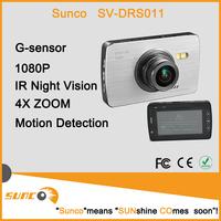 Free shipping Silver Korea Novatek Chipset Wide Angle 140 best car black box 1080p 2.7 inch HD LCD screen 32G card CAR cam