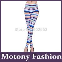 Motony Women's Lines Patten Fashion Leggings Stretch Leggings