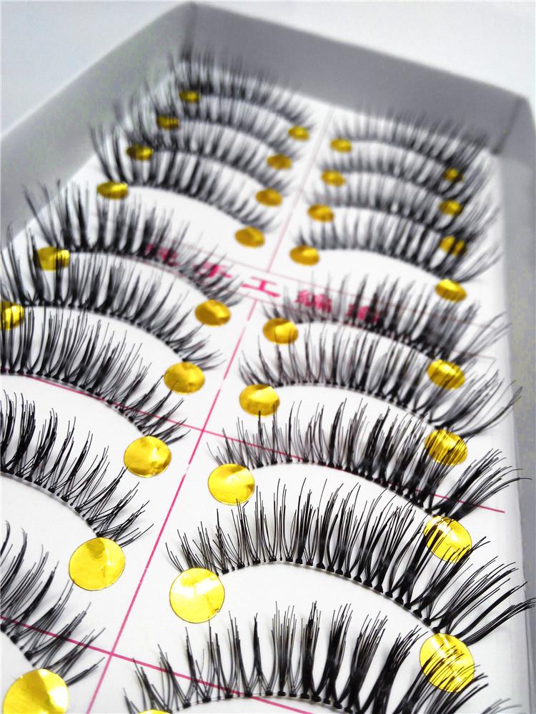 Free Shipping 10Pair Lot Thick False Eyelashes Mink Eyelash Lashes Voluminous Makeup