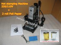 High Quality! 220V/110V Manual Gold Hot Foil Stamping Machine Tipper Machine,Card Tipper for Leather, PVC Card +2FREE FOIL PAPER