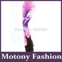 Motony Women's Pattern Leggings Cotton Stretch Pant