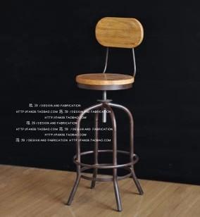 Mobiliário francês do país , oxidação do ferro forjado madeira retro para fazer o velho bar cadeiras retro bar preside o teleférico American Bar(China (Mainland))