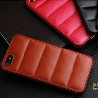 for Apple for iphone 5S case Mobile Shell Bread sand back leather protective case