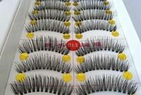 10 Pairs Handmade Fake False Eyelash Natural Look Transparent Stem Invisible Clear Band free shipping 013#