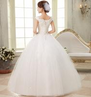 Free shipping 2014 new fashion wedding dress Korean spring wedding bride no tail was thin straps