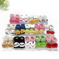 Free shipping Baby Unisex Newborn Animal Cartoon Socks Cotton Shoes Booties Boots 0-10M Drop shipping