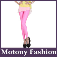Motony Women's Fashion Leggings Fluorescent Stretch Leggings