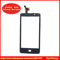 1PCS Original New Touch Screen With Digitizer Front Glass Replacement For ZOPO 300 ZP300 Black Free Shipping