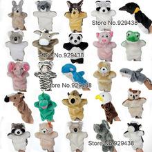 1pcs/lot,Early education props Animal hand puppet plush toys Gloves doll for Birthday gift,(Frog.Koala.Raccoon.Shark,Wolf, Pig)(China (Mainland))