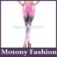 Motony New Fashion Women's Lightning Galaxy Pattern Leggings