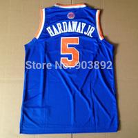 New York #5 Tim Hardaway jr. blue adult basketball jerseys mix order free shipping