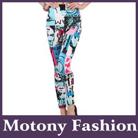 Motony Women's Fun All Over Printed Stretch Leggings
