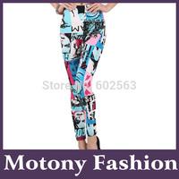 Motony Women's Fun All Over Printed Stretch Leggings