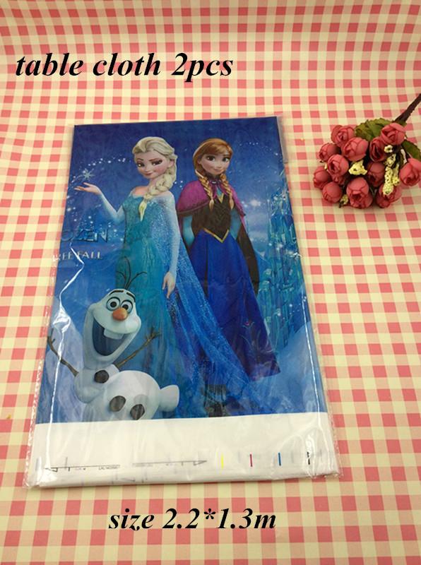 sale 2pcs/lot Frozen Anna Elsa Plastic Tablecloth Tablecover frozen