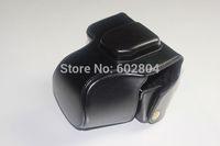 Wholesale! em10 camera bag imitation leather case for Olympus EM10 ( 14-42mm lens ) camera case PU leather bag Free shipping