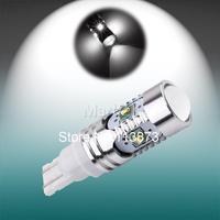 2pcs T10 25W CREE led light XP-E Super White High Power T10 led 194/501 W5W 912 921 T15 LED car Bulbs Car Backup Reverse Lights