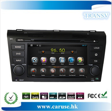 4GB map card gift,help you download the map! Pure Android 4.22 Capacitive screen Car dvd player for OLD MAZDA 3 built-in wifi(China (Mainland))