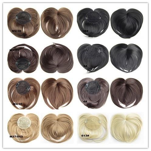 8 Colors+Free Shipping Top Closure Hair Fringe Bang Hair Bangs Extension Blonde Bang Synthetic Hair Piece False Hair 40G(China (Mainland))