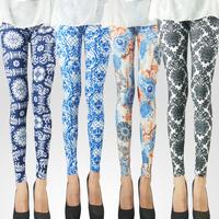 High Quality Milk Silk Geometric Leggings For Women Fitness Ligins Women Legging Punk Style Jeans Pants Plus Size Girl Pant