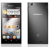 5.5 inch Metal Dual core  Intel Atom Z2580 RAM 2G + 16G Lenovo K900 phone Android 4.2 IPS HD retina 1920*1080 13MP slim wcdma