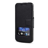 New High-class Window View Flip Leather Case Cover For HTC Desire 300 Zara mini