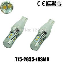 free Shipping 2pcs T15 2835 50w Led Super Bright Car Light Canbus Error W16w 921 Parking Backup Reverse for Brake Lamp(China (Mainland))