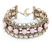Fashion Jewelry Bracelets & Bangles Leather Zinc Alloy Charm Bracelets Colorful Resin Stone Trendy Pulseras 2015 Strand Bracelet