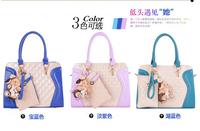 2014 women's fashion handbag shoulder bag handbag women's patchwork handbag