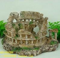 Hot New Aquarium Decor Rockery with Archway Fish Tank Decoration Ornament free shipping