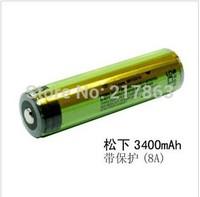 2PCS 100%  New Original 18650 3400mah 3.7V Li-ion Rechargebale  / 18650 Battery 3400mah Protected / Ncr18650b Rechargeable pcb