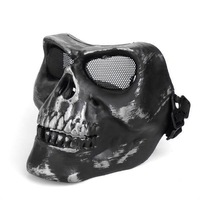 Death Skull Bone Airsoft Paintball BB Gun Full Face Protect Safe Mask M02 free ship