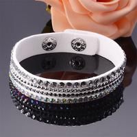 wholesale 2pcs/lot slake deluxe New Rhinestone Bling Crystal Fashion Wrap Bracelet,mixed size crystal wrap bracelet