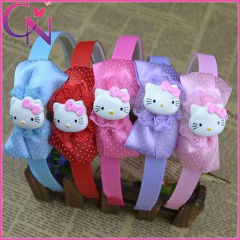 Wholesale Baby Girl Boutique Hello Kitty Hair Band Cute Princess head wear hair accessories 10pcs/lot Free Shipping CNHB-1402251