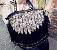 2014 Leopard tassel serpentine pattern brand designer handbags women leather Messenger bags peacock tote shoulder bag 36293
