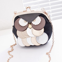 2014  brand Summer  cartoon owl bags one shoulder cross-body bag small mobile phone bag coin purse free shipping 6 colors