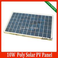 10W 18V Polycrystalline silicon Solar PV Panel used for 12V home system, 10Watt 10WP 12VDC PV Poly solar Module free shipping