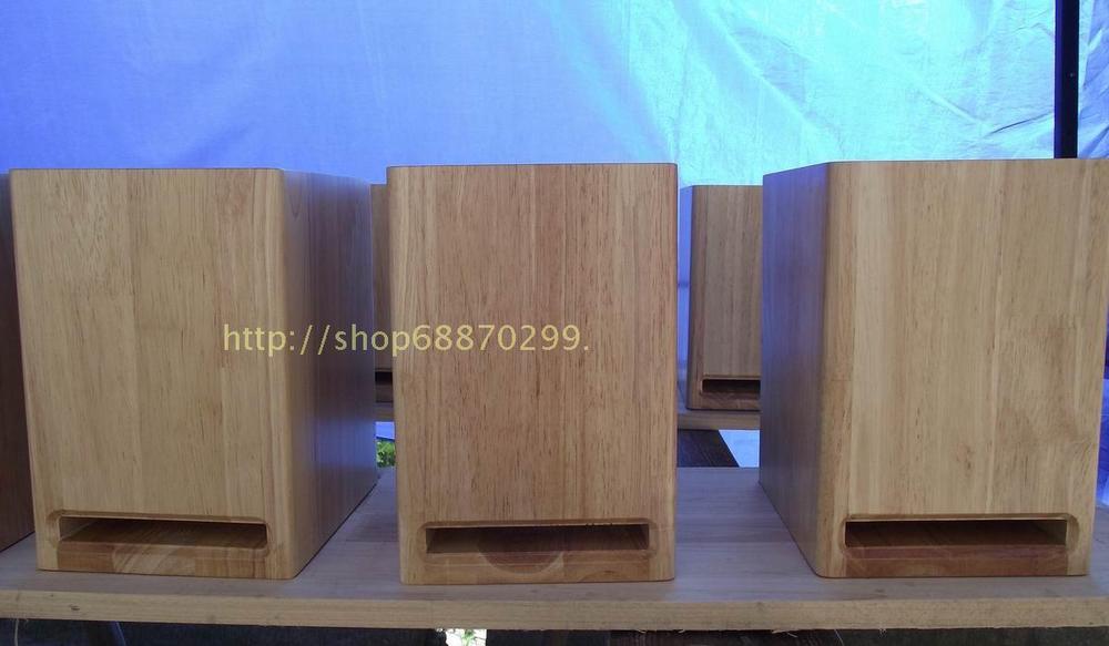 4 -5 inch inch speaker cabinet oak wood shelves empty box tube amp full-range speaker maze non- veneer speakers(China (Mainland))