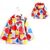 2014 Autumn Winter Girls Trench Coat Fashion Kids Jackets Coats Brand Children Hoodies Jacket Designer Kids Outerwear 2-10Y