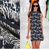 Val*nt*o zebra print 100%cotton fabric designer heavy cotton fashion cloth 250g/meter
