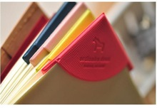 Free shipping, 4 pcs/lot Cute Lovely Book marks Clips Colorful Bookmark (China (Mainland))