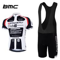 Free shipping Men's Bmc Summer short-sleeve Ride service set Mountain bike Bib shorts Jerseys Breathable Cycling Suit Quaity