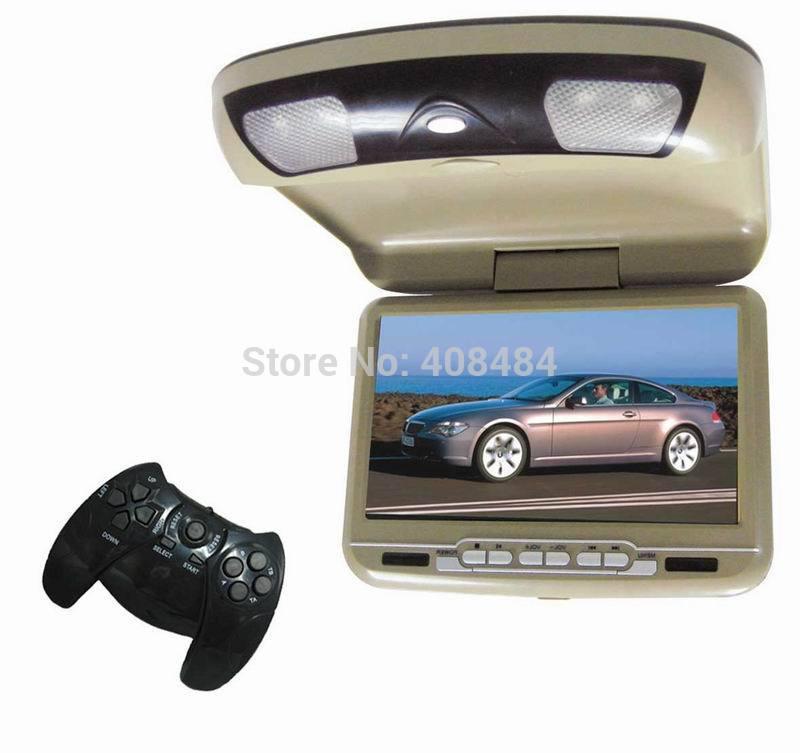 9 Inch Flip Down Roof Mount Monitor car DVD Player Russian Menu Free Shipping Retail/PC(China (Mainland))