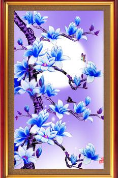Сделай сам алмаз чертеж придерживаться оже цветок магнолии смолаы открыть 3 D алмаз вышивать - вышивки крестом бесплатная доставка